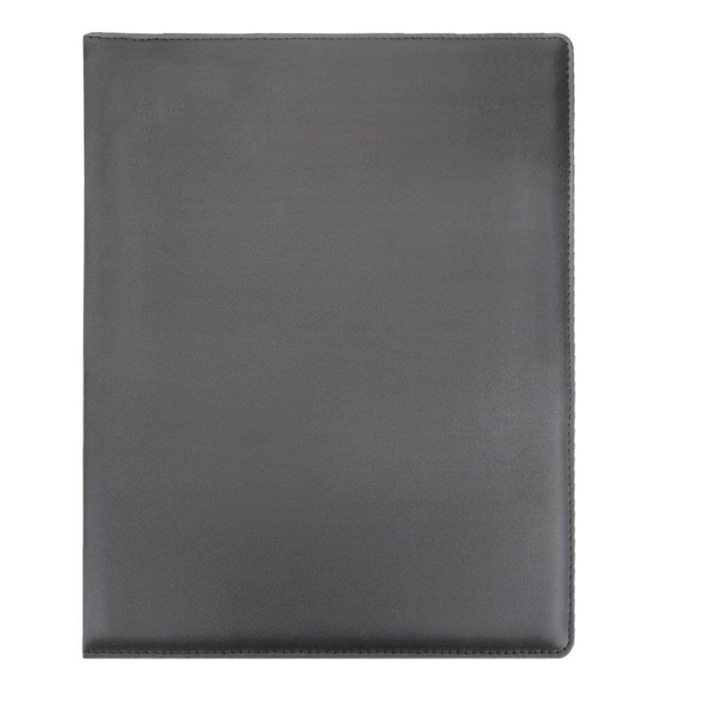 Haute Qualit/é Porte-Blocs /à Pince en Cuir PU Porte-Document Format A4 Conf/érencier Pour Directeur Plaquette avec Poche Int/érieur Porte-Stylo Agenda Commercial Chemise de Dossiers Organisateur Bureau