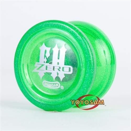 Duncan Freehand Zero Glitter Yo-Yo - Green - Freehand Zero Yo Yo