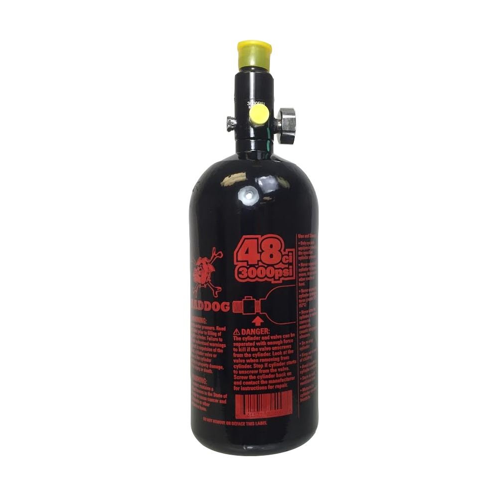 Maddog Sports 48ci/3000psi High Pressure Compressed Air Tank - Black / Red by MAddog