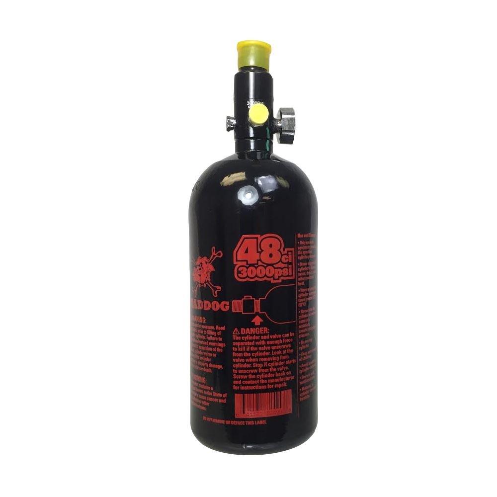 Maddog Sports 48ci/3000psi High Pressure Compressed Air Tank - Black / Red