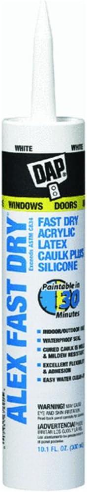 Amazon Com Alex Fast Dry Acrylic Latex Plus Silicone Caulk 10 1 Ounce 12pack Home Improvement