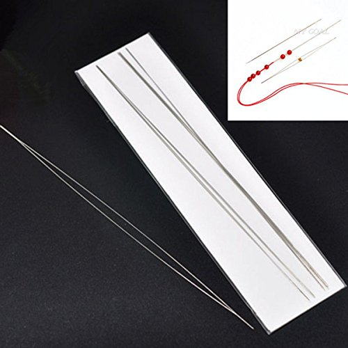 10X Big Eye Curved Beading Needles 125x0.6mm Easy Thread Craft DIY Jewellery by Neutral
