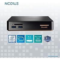 Shuttle XPC NC01U3 Mini PC Desktop Computer | Intel i3-5005U | 4GB DDR3L RAM | 500GB HDD 7200RPM | Intel HD Graphics | 4K Support | Dual Display | WiFi | No OS