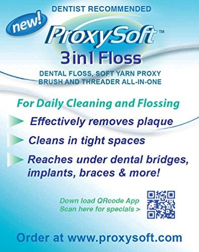 ProxySoft 3-in-1 Floss - 100 Travel Packs (500 strands) by ProxySoft (Image #1)