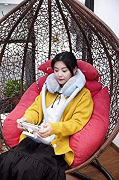 BaeGae 2-in-1 Memory Foam Travel Pillow with Hands-Free Cell Phone Holder Soft Ergonomic U-Shaped Neck Support Portable and Lightweight Flexible Mount Stand for Smartphones