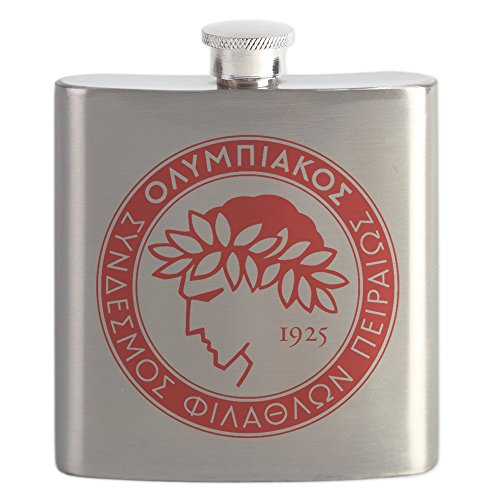 fan products of CafePress - Olympiacos - Stainless Steel Flask, 6oz Drinking Flask