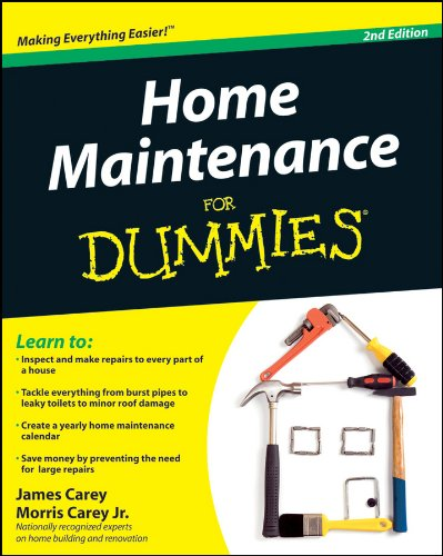 Home Maintenance for Dummies paperback book.