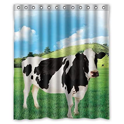 Uiowsbe Beautiful Milk Cow Shower Curtain Inch Bath