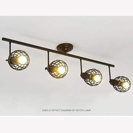 OUKANING - Lámpara de techo LED de color rojo, luz de raíl ...