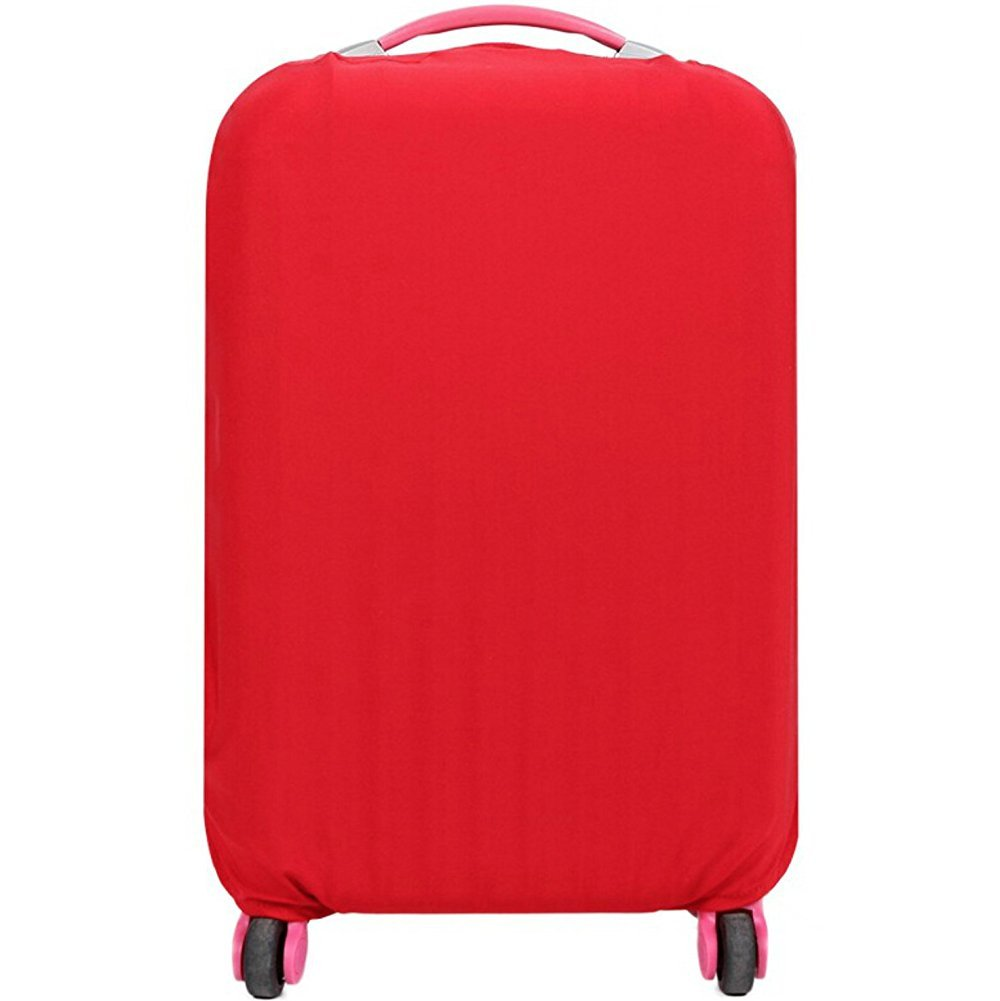 Fanyuan Spandex Travel Luggage Cover Fits 18-30 Inch Luggage (L (26-30 Inch Luggage), Red)
