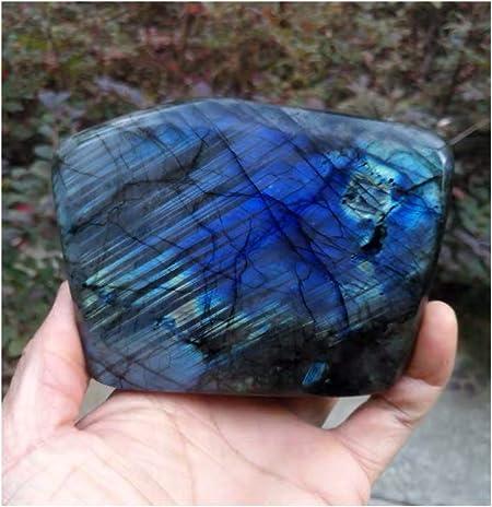 Moonstone Labradorite Quartz Crystal W// Carb STUBBY*US SELLER* !!SEE BELOW!!