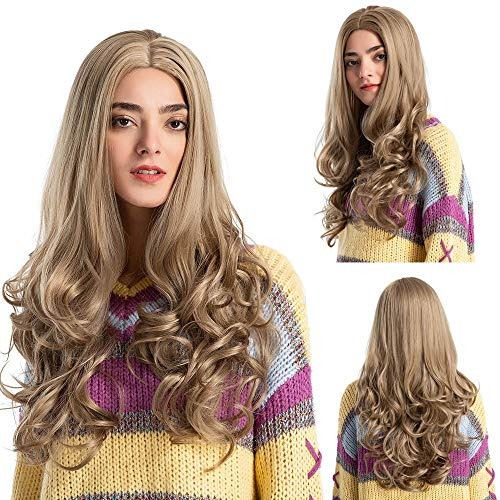 Clearance Sale Costume Wigs,Ketteb Fashion Wavy Light Brown Long Curly Wig For Woman Wig Artificial Hair Wigs ()