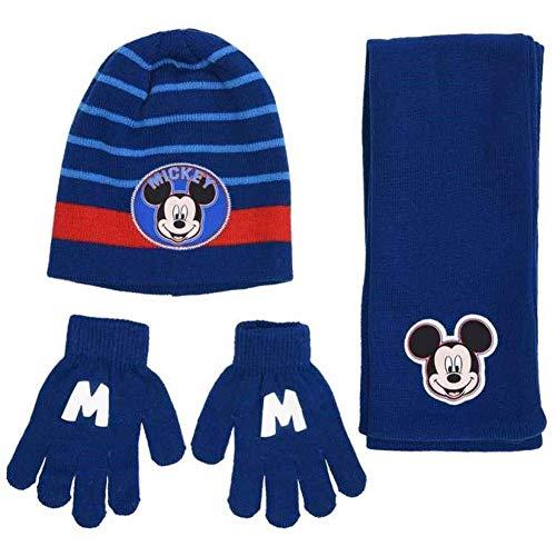 Talla /Única Unisex ni/ños Multicolor Mickey Mouse Set Gorro Bufanda Y Guantes Conjunto