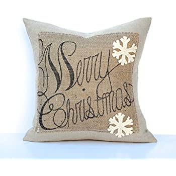 Amazon Com One Merry Christmas Snowflake Pillow Cover