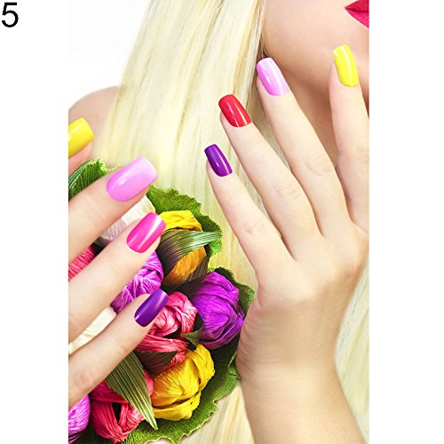 Fashion Nail Art Beauty Salon Canvas Painting Unframed Picture Wall Decor Poster - 5# 3040cm qsbai (Unframed Vinyl)