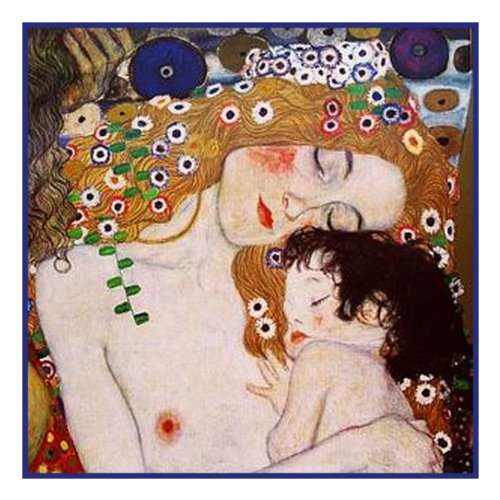 Orenco Originals Mother and Child Detail by Gustav Klimt Counted Cross Stitch Pattern