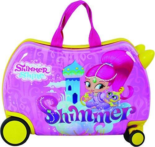 Nickelodeon Shimmer And Shine Kids CarryOn Luggage 20'' Children SeatOn Ride-On Suitecase