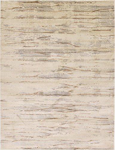Unique Loom Aurora Collection Abstract Vintage Beige Area Rug (9' 0 x 12' 0)