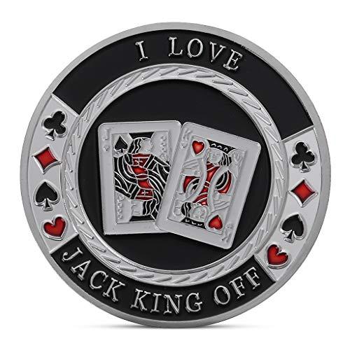Set Commemorative Poker (Ladaidra Texas Poker Lucky Chips Commemorative Coin Gold Plated Souvenir Art Collection)