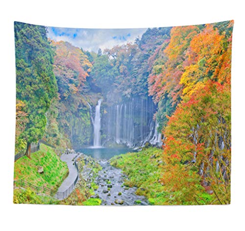 ASOCO Tapestry Wall Hanging Autumn Japan Asia Beauty Color Day Fall Famous Foliage Horizontal Wall Tapestry for Bedroom Living Room Tablecloth Dorm 60