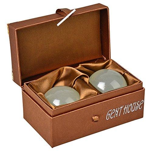 gent house ice jade baoding citrine chinese health stress exercise balls