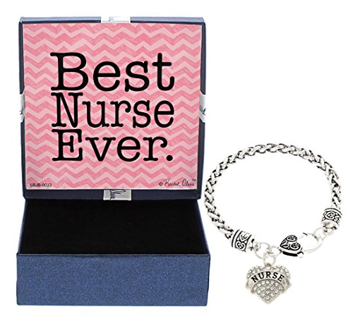 Mother's Day Gift Idea for Nurse Gifts Best Nurse Ever Jewelry Bracelet Silver-Tone Charm Bracelet Gift for Nurse Christmas Gift for Nurse Gift for Mom Nurse Practitioner Gifts Nursing School Gifts