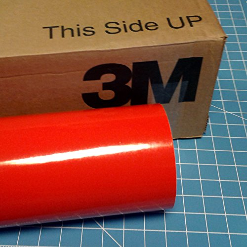 24'' x 100 Ft Roll of Light Red 3M Scotchcal Series 50 Vinyl for Craft Cutters and Vinyl Sign Cutters