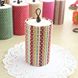 GlobalDeal Unique Cylinder Jewelry Bamboo Wooden Storage Organizer Box Wedding Favor Case - Multicolor