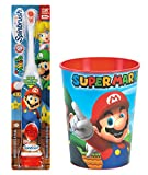Cheap Super Mario Brothers Toothbrush Bundle: 2 Items – Spinbrush Powered Toothbrush, Mario Character Rinse Cup