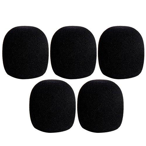 Gosear 5 PC de Mano Etapa Micrófono Protección del Parabrisas Espuma de la Esponja Cubierta del Protector Negro