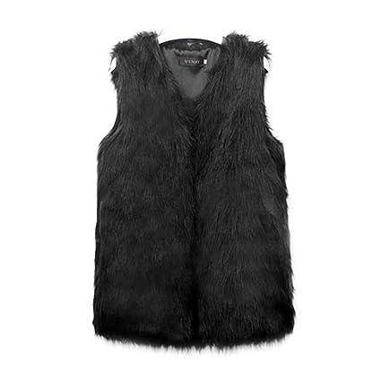Chaleco Wildeal de pelo sintético para mujer para invierno. Abrigo que le mantiene caliente.