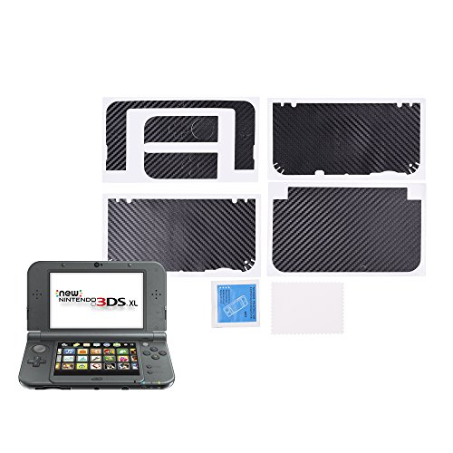 COSMOS Black Color Carbon Fiber Protector Protective Skin Decal for Nintendo 3DS / 3DS XL NEW 3DSLL/XL (New 3ds Xl Carbon Fiber compare prices)