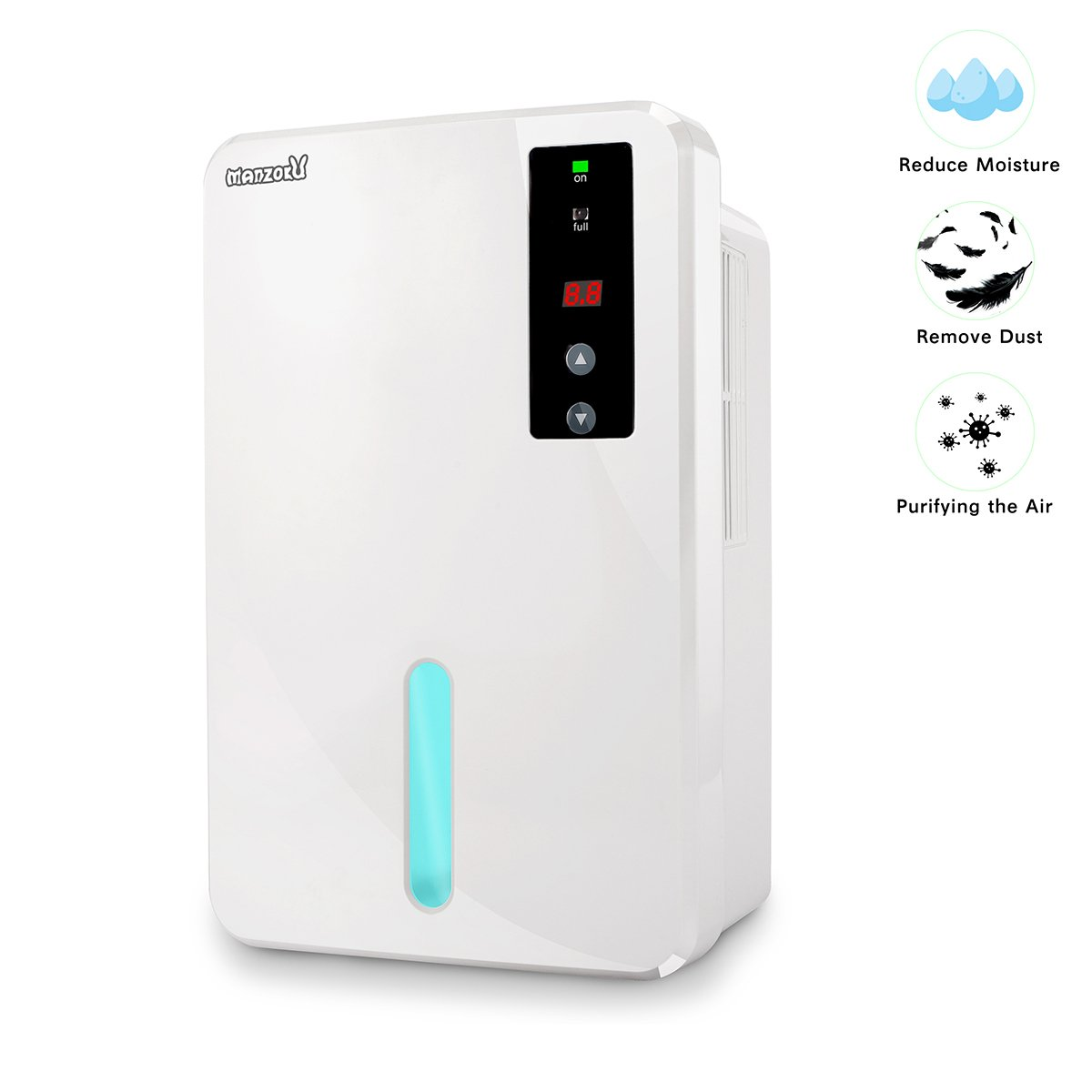 Dehumidifier Electric Mini Dehumidifiers for Home Basements Bathroom RV Closet 1800 Cubic Feet(215 sq ft) Large 1500ml Tank Portable Dehumidifier with Air Humidity Control to Remove Damp Mold Moisture