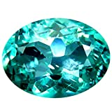 0.84 ct Oval Cut (7 x 5 mm) Paraiba Blue Un-Heated Apatite Natural Gemstone