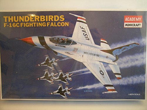 Academy/Minicraft Models---Thunderbirds F-16C Falcon---Plastic Model Kit