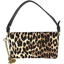 Tory Burch Cleo Leopard Calf Hair Convertible Clutch Crossbody, Natural Leopard
