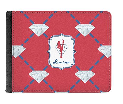 Bi Men's Red Leather Genuine Personalized Wallet Diamond fold Dancers trxIqXSr
