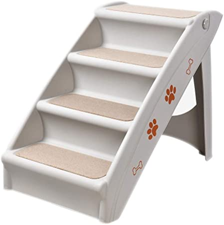 Escaleras para Mascotas Escalera De Escalada para Perros Pasos De PláStico Escalera De Escalada para Autos Coche Plegable Antideslizante Escalera De Escalada para 4 Pasos: Amazon.es: Hogar