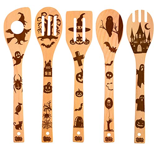 Stunning Halloween Wooden Cutlery Set