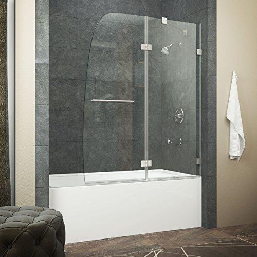 ANZZI Herald Series 48 x 58 Hinged Frameless Tub Door