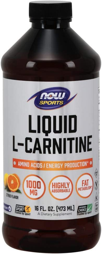 NOW Sports Nutrition, L-Carnitine Liquid 1000 mg, Highly Absorbable, Citrus, 16-Ounce: Health & Personal Care