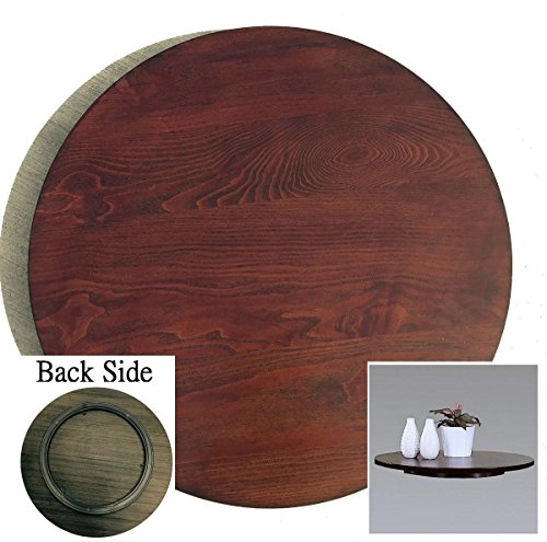 21-in Diameter Brown Wood Lazy Susan
