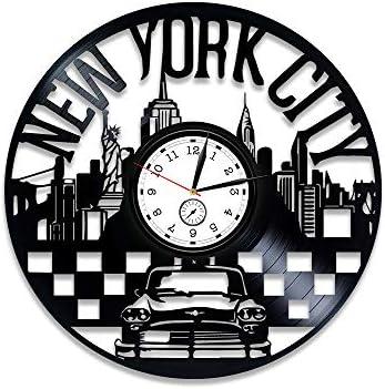 Kovides New York Vinyl Clock New York Wall Clock Vintage New York Vinyl Record Wall Clock New York Vinyl Wall Clock New York Clock Travel Gift New York Wall Clock Modern New York Gift
