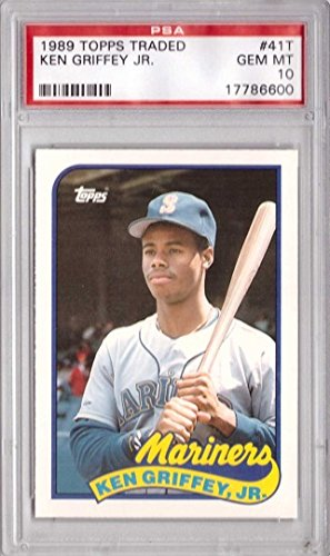 - 1989 Topps Traded Baseball #41T Ken Griffey Jr. Rookie Card Graded PSA 10 Gem Mint