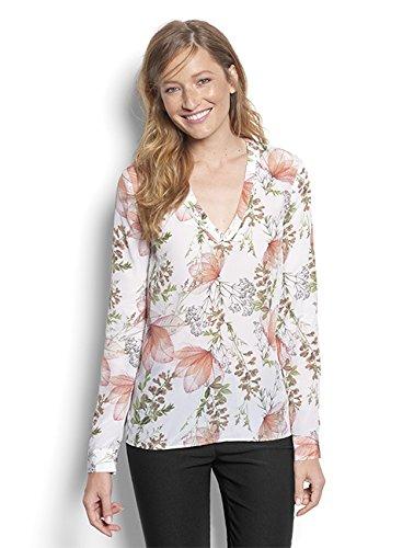 Orvis Women's Printed Popover Silk Shirt, Large