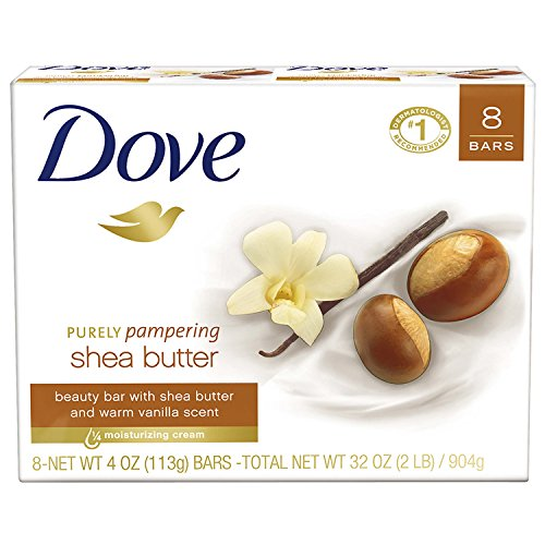 Dove Beauty Bar, Shea Butter, 4 oz, 8 ()