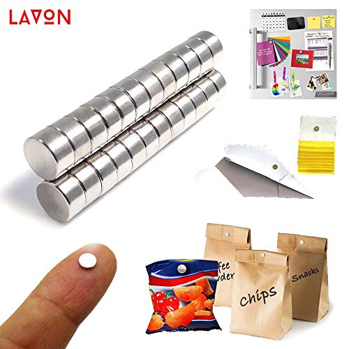 - ETO MAGNETIC Round refrigerator magnets , 8x3mm , Small Round Magnets for crafts, DIY magnets, Office magnets , Heavy Duty magnets with Premium Quality and Multiple Use , Set of 35 small magnets.