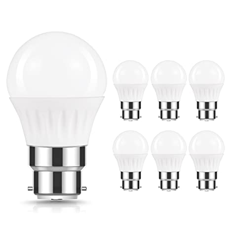 JandCase Bombillas LED B22, 5 W Equivalente a 40 W Incandescente, 500 lúmenes,