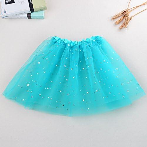 Muhan Multicolor Tutu Skirts,3-Layer Ballet Tutus For Girls Kids