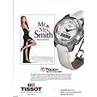 PRINT AD With Angelina Jolie For 2005 Tissot Watches